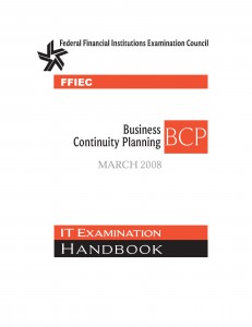 Cover page from 2008 FFIEC_IT_Booklet_BusinessContinuityPlanning